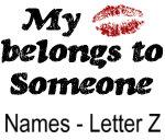 My Kiss Belongs - Names - Letter Z