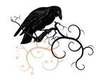 Black Raven Swirl Branches