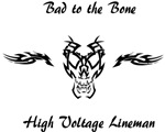 Bad to the Bone Black decal for light items