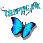 Cryptic Ink Blue Butterfly