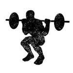 Distressed Squats Silhouette