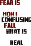 Fear is how I fall; Confusing what is real