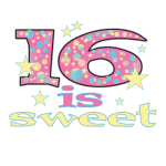 16th Birthday T-shirts, Gifts, Buttons