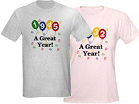 Your Birthdate Year T-shirts and Gifts
