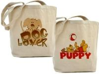 Dog Tote Bags