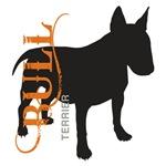 Grunge Bull Terrier Silhouette