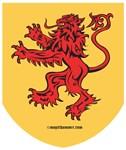 Lion Red Shield