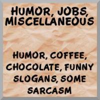 Humor, hobbies, sports merchandise
