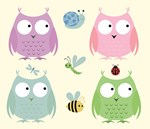 Owl Friends - Pink