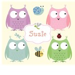 Personalize it!  Owl Friends Pink Template