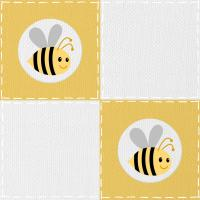 Bumble Bee Quilt Patch 4k