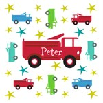Personalize it! Trucks & Stars - Red