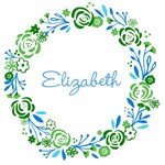 Personalize it! Shabby Chic Wreath - lagoon