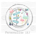 Personalize it!Flamingo Beach Stamp