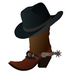 Western Boot & Hat Icon