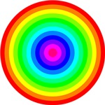 Rainbow Concentric Circles