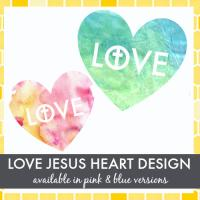 Love Jesus Heart Design