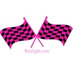 BoostGear.com Pink Checkered Flags - Dog Shirts