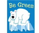 Be Green Polar Bear