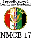 Proudly Served Beside my husband NMCB 17