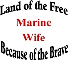 Land of the free Marine Wife