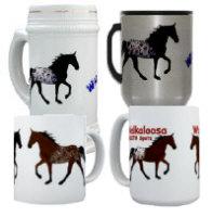 Walkaloosa Mugs, Steins and Traveling Mugs