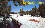 Winter Scene at Big Springs, ID, 1950's