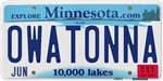 Owatonna License Plate Shop