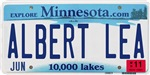 Albert Lea License Plate Shop