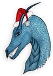 Blue Christmas Dragon