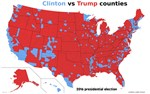 Trump vs.Clinton counties won