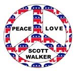 Scott Walker Peace Love