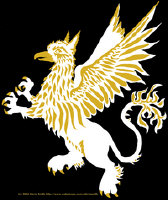 Gryphon in White and Gold