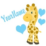 Personalizable Blue Giraffe