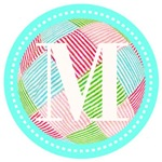 Personalizable Monogram Pink Green Teal