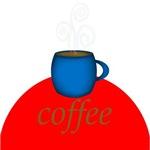 Red Coffee Blue Mug