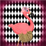 Pink Flamingo Lady