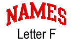 Names (red) Letter F