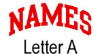 Names (red) Letter A