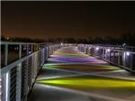 Gray's Lake Colorful Bridge