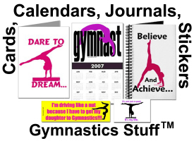 Gymnastics Puzzles, Calendars, Journals, Stickers