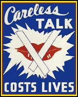 CARELESS TALK COSTS LIVES WWII T-SHIRTS
