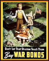 WAR BONDS WORLD WAR 2 T-SHIRTS