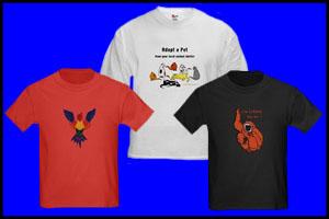 ANIMAL DESIGNS ON T-SHIRTS