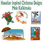 Hawaiian inspired Christmas designs
