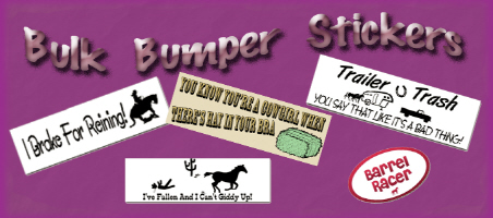 Bulk Bumper Stickers - Resale