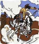 Vintage Cowboy Bronc Rider