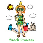 Beach Princess (Red Hair)