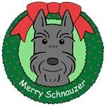 Giant Schnauzer Christmas Ornaments