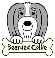 Personalized Bearded Collie